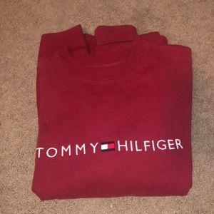 Vintage Red Tommy Hilfiger Crewneck
